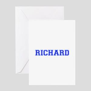 RICHARD-var blue Greeting Cards