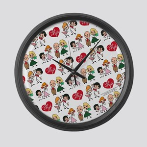 I Love Lucy Character Stick Figur Large Wall Clock