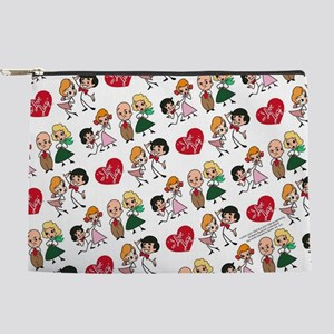 I Love Lucy Character Stick Figures Makeup Pouch