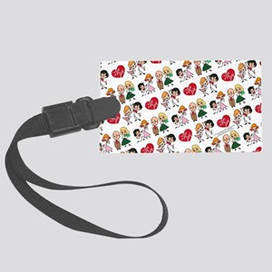 I Love Lucy Character Stick Figu Large Luggage Tag