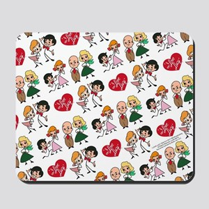 I Love Lucy Character Stick Figures Mousepad
