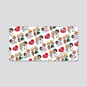 I Love Lucy Character Stick Aluminum License Plate