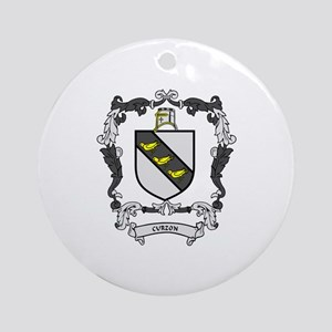 CURZON Coat of Arms Ornament (Round)