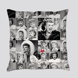 I Love Lucy Face Collage Everyday Pillow