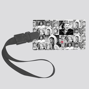 I Love Lucy Face Collage Large Luggage Tag