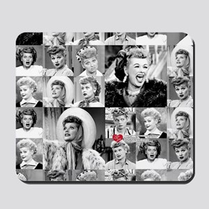 I Love Lucy Face Collage Mousepad