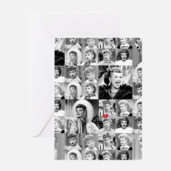 I Love Lucy Face Collage Greeting Card