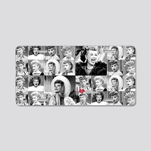 I Love Lucy Face Collage Aluminum License Plate
