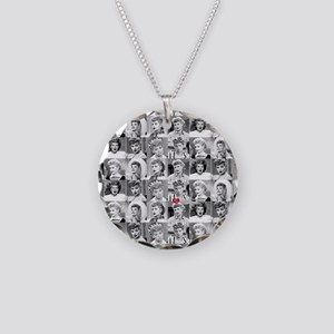 I Love Lucy Face Collage Necklace Circle Charm