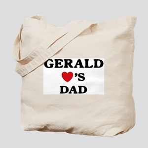 Gerald loves dad Tote Bag