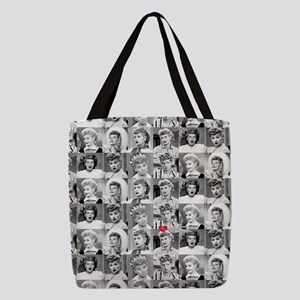 I Love Lucy Face Collage Polyester Tote Bag