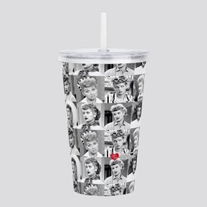 I Love Lucy Face Colla Acrylic Double-wall Tumbler