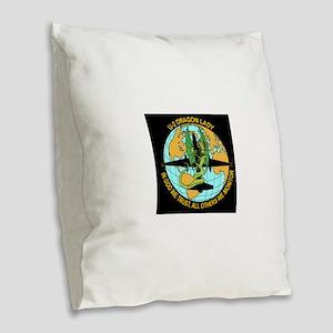 u2logo Burlap Throw Pillow