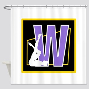 Naughty Initial Design (W) Shower Curtain