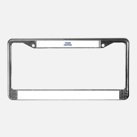 team FOSTER-var blue License Plate Frame