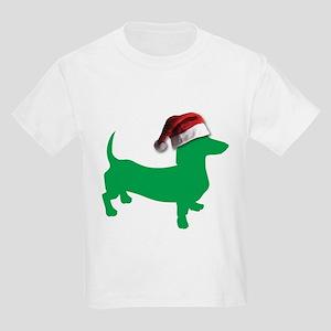 Christmas Light Green Dachshund T-Shirt