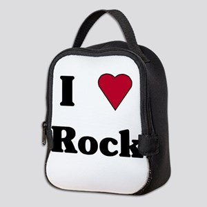 I LOVE ROCK Neoprene Lunch Bag