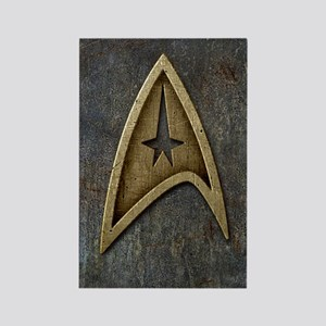 Star Trek Insignia Grunge Rectangle Magnet