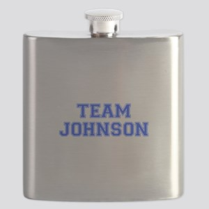team JOHNSON-var blue Flask