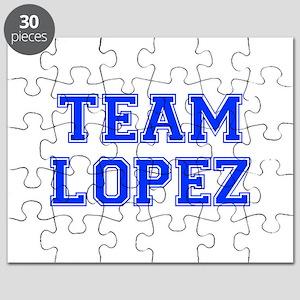 team LOPEZ-var blue Puzzle