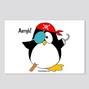 Penguin Pirate Graphic Postcards (Package of 8)