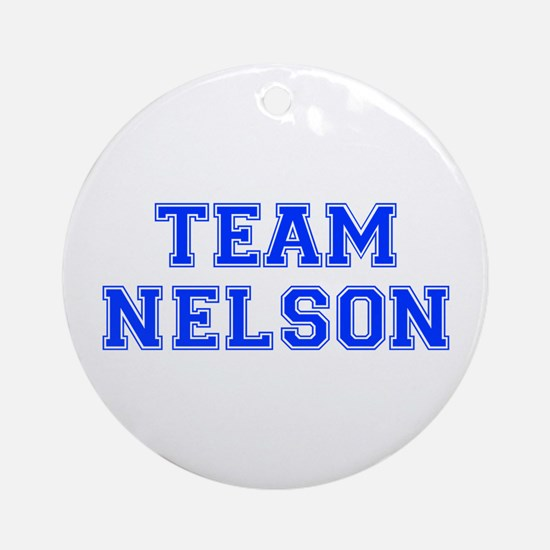 team NELSON-var blue Ornament (Round)