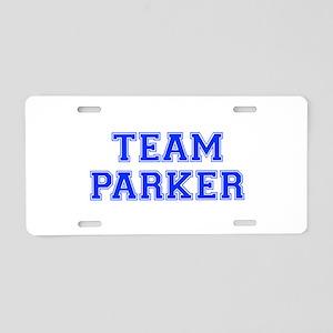 team PARKER-var blue Aluminum License Plate