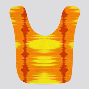 Bright yellow and orange tie dye Ikat Bib