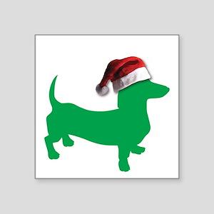 Christmas Light Green Dachshund Sticker