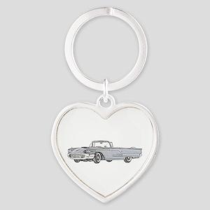 1958 Thunderbird Heart Keychain
