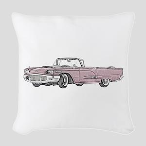 1958 Thunderbird Woven Throw Pillow