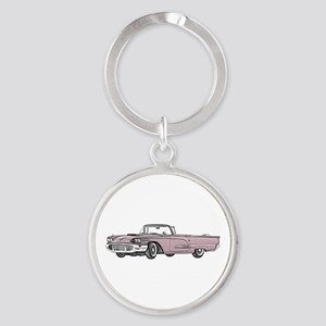 1958 Thunderbird Round Keychain
