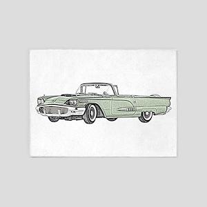 1958 Thunderbird 5'x7'Area Rug