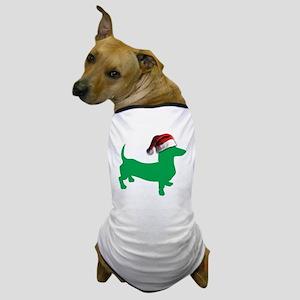 Christmas Light Green Dachshund Dog T-Shirt