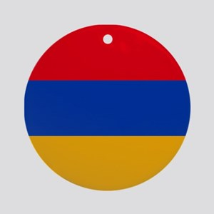 Flag of Armenia Round Ornament