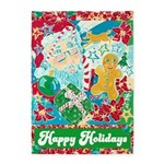 Happy Holidays 5'x7'area Rug