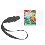 Happy Holidays Large Luggage Tag