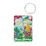 Happy Holidays Aluminum Photo Keychain