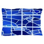 Ice Blue Stained Glass Pillow Case