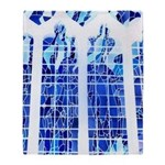 Ice Blue Stained Glass Throw Blanket