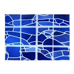 Ice Blue Stained Glass 5'x7'area Rug