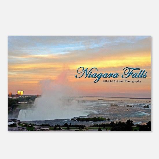 Niagara Falls Sunset Postcards (package Of 8)