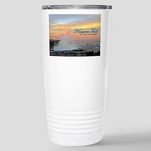Niagara Falls Sunset Stainless Steel Travel Mug
