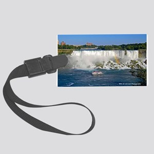 American Falls And Boat Large Luggage Tag