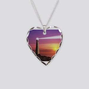 Lighthouse Necklace Heart Charm