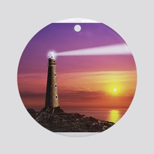 Lighthouse Ornament (Round)