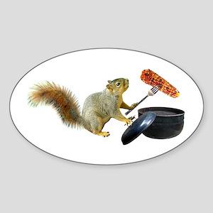 Squirrel BBQ Sticker