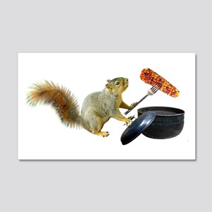 Squirrel BBQ Wall Decal