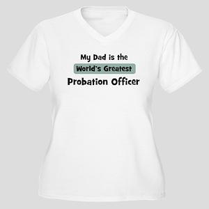 Worlds Greatest Probation Off Women's Plus Size V-