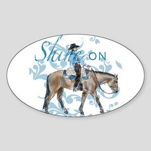 Western Pleasure Shine On Sticker